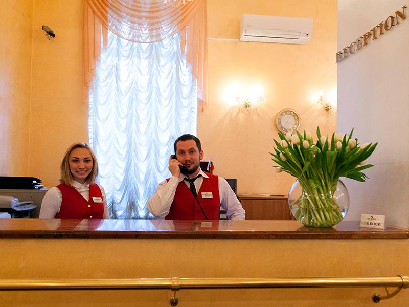 гостиница Максима Заря, ресепшн